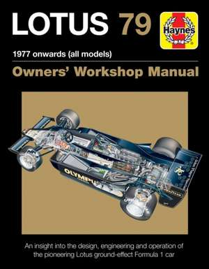 Lotus 79 1978 Onwards (All Models)