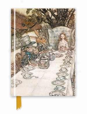 Rackham: Alice In Wonderland Tea Party (Foiled Journal) de Flame Tree Studio