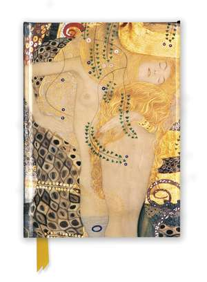 Gustav Klimt: Water Serpents I (Foiled Journal) de Flame Tree Studio