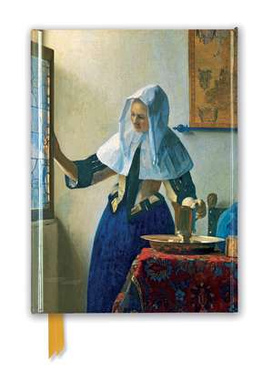 Johannes Vermeer: Young Woman with a Water Pitcher (Foiled Journal) de Flame Tree Studio