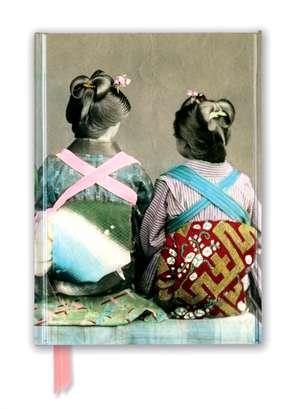 Japanese Dancers Wearing Traditional Kimonos (Foiled Journal) de Flame Tree Studio
