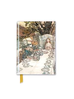 Rackham: Alice In Wonderland Tea Party (Foiled Pocket Journal) de Flame Tree Studio