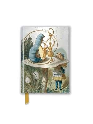 British Library Tenniel: Alice (Foiled Pocket Journal) de Flame Tree Studio