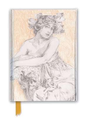 Alphonse Mucha: Study for Documents Décoratifs Plate 12 (Foiled Journal) de Flame Tree Studio