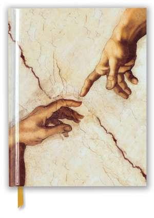 Michelangelo: Creation Hands (Blank Sketch Book) de Flame Tree Studio