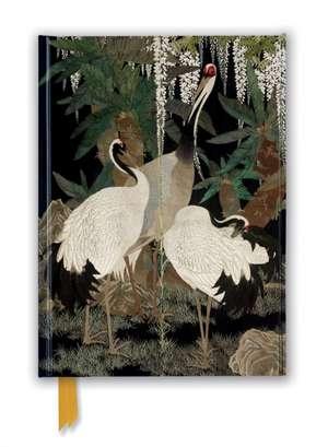 Ashmolean: Cranes, Cycads and Wisteria by Nishimura So-zaemon XII (Foiled Journal) de Flame Tree Studio