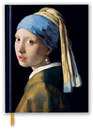 Johannes Vermeer: Girl With a Pearl Earring (Blank Sketch Book) de Flame Tree Studio
