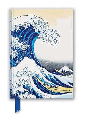 Hokusai: The Great Wave (Foiled Blank Journal) de Flame Tree Studio