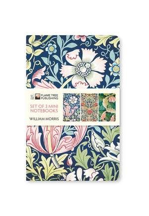 William Morris Mini Notebook Collection de Flame Tree Studio