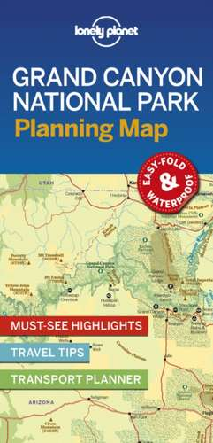 Lonely Planet Grand Canyon National Park Planning Map imagine