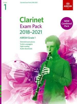 Clarinet Exam Pack 2018-2021, ABRSM Grade 1 imagine