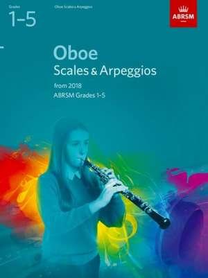 Oboe Scales & Arpeggios, ABRSM Grades 1-5 imagine