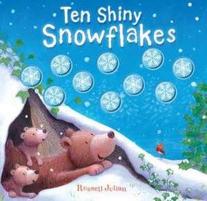 Ten Shiny Snowflakes