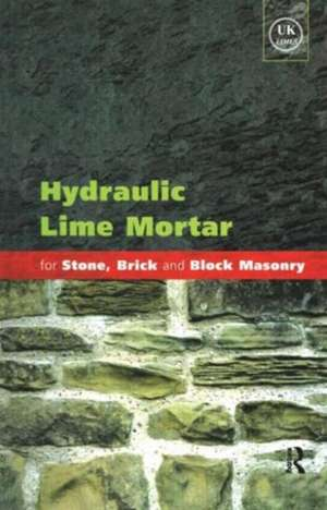Hydraulic Lime Mortar For Stone  Brick And Block M