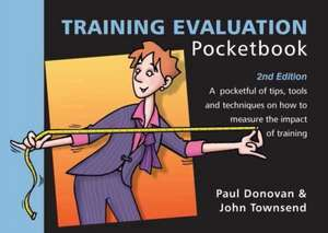 Training Evaluation Pocketbook de Paul Donovan