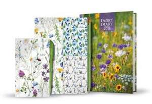 A5 Week-to-View Diary with Recipes, Pocket & Stickers Plus Pocket Diary, Pen, Notebooks & Pencil
