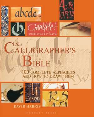 The Calligrapher's Bible: 100 Complete Alphabets and How to Draw Them de David Harris