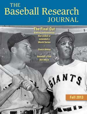 Baseball Research Journal (BRJ), Volume 42 #2 de Society for American Baseball Research (SABR)