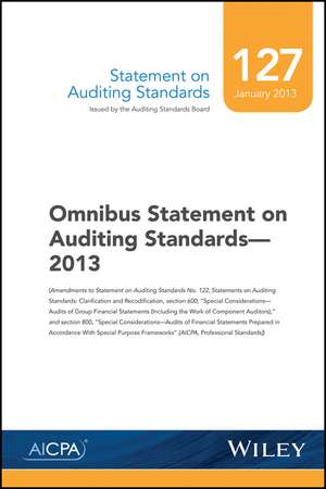 Statement on Auditing Standards, Number 127: Omnibus Statement on Auditing Standards de AICPA