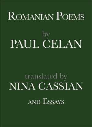 Romanian Poems by Paul Celan and Essays de Paul Celan