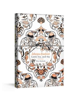 Johanna Basford Land, Sea, and Sky: Three Colorable Notebooks de Johanna Basford