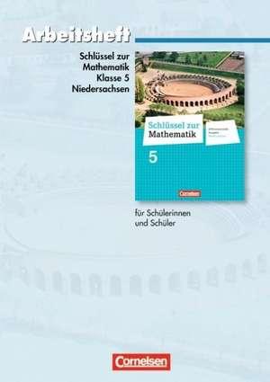 Schluessel zur Mathematik 5. Schuljahr. Arbeitsheft mit eingelegten Loesungen. Differenzierende Ausgabe Niedersachsen