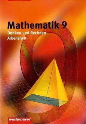Mathematik Denken und Rechnen 9. Arbeitsheft. Niedersachsen