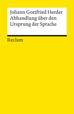 Abhandlungen ueber den Ursprung der Sprache