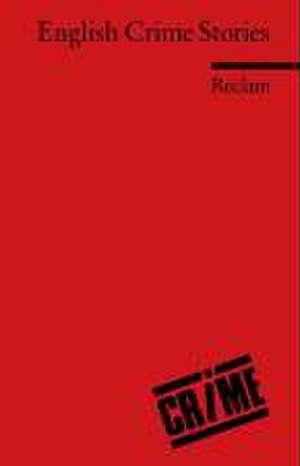 English Crime Stories de Armin Arnold