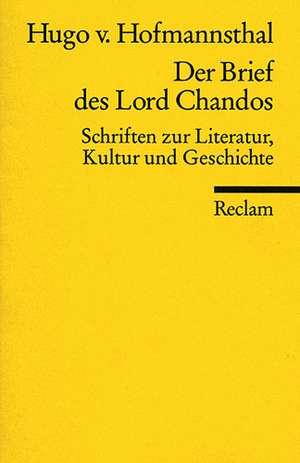 Der Brief des Lord Chandos de Mathias Mayer