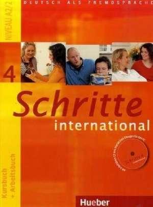 Schritte international 4. Kursbuch + Arbeitsbuch mit Audio-CD zum Arbeitsbuch und interaktiven UEbungen