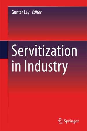 Servitization in Industry de Gunter Lay