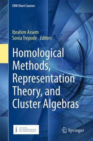 Homological Methods, Representation Theory, and Cluster Algebras de Ibrahim Assem