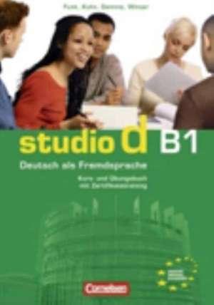 studio d B1. Gesamtband 3. Kurs- und UEbungsbuch mit CD