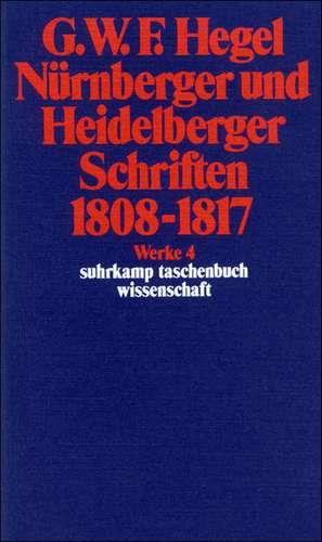 Nuernberger und Heidelberger Schriften 1808 - 1817