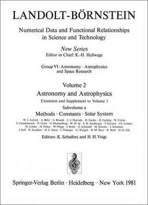 Methods, Constants, Solar System / Methoden, Konstanten, Sonnensystem de Karl Schaifers