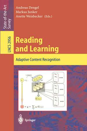 Reading and Learning: Adaptive Content Recognition de Andreas Dengel