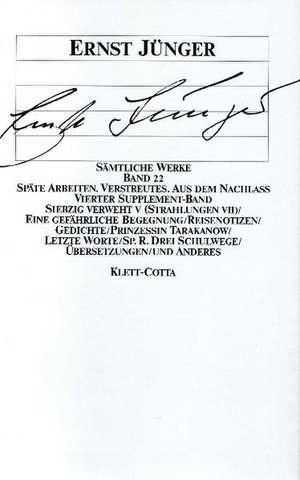 Siebzig verweht V. Unveroeffentliche Reisenotizen. 4. Supplement-Band