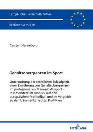 Gehaltsobergrenzen im Sport de Carsten Henneberg