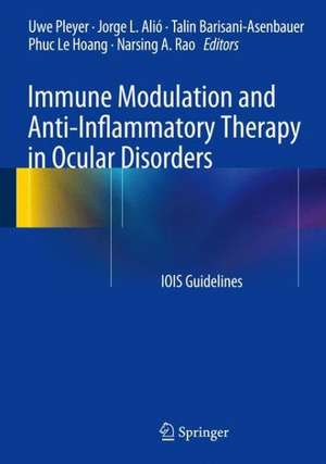 Immune Modulation and Anti-Inflammatory Therapy in Ocular Disorders