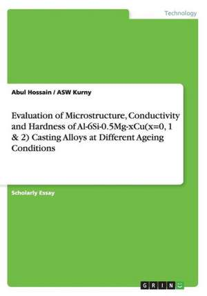 Evaluation of Microstructure, Conductivity and Hardness of Al-6si-0.5mg-Xcu(x=0, 1 & 2) Casting Alloys at Different Ageing Conditions:  Why Do Regulators Generally Rely on Quantitative Methods? de Abul Hossain