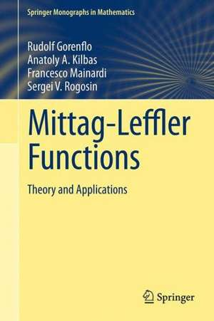 Mittag-Leffler Functions, Related Topics and Applications imagine