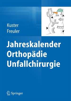 Jahreskalender Orthopaedie Unfallchirurgie