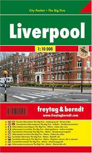 Liverpool, City Pocket, Stadtplan 1:10.000