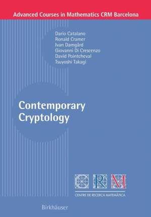 Contemporary Cryptology de Dario Catalano