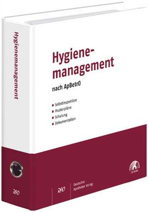 Hygienemanagement nach ApBetrO