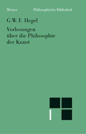 Vorlesungen ueber die Philosophie der Kunst (1823)