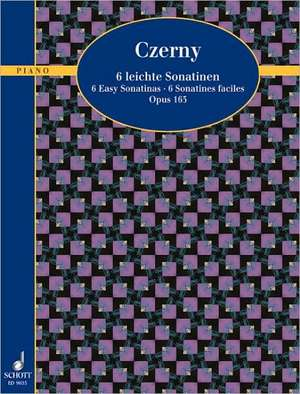 Sechs leichte Sonatinen.Klavier. de Carl Czerny