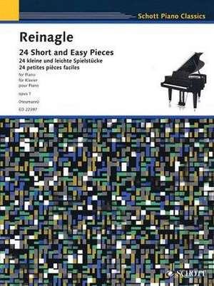 24 Short and Easy Pieces. Klavier de Alexander Reinagle
