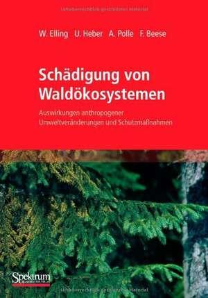 Schädigung von Waldökosystemen: Auswirkungen anthropogener Umweltveränderungen und Schutzmaßnahmen de Wolfram Elling